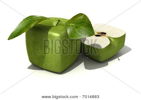 Granny Smith Cubic Apple And A Half
