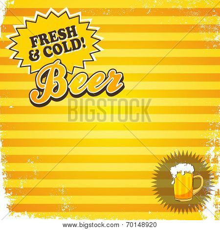 cold and fresh beer