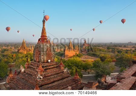 Balloon Travel In Bagan, Myanmar