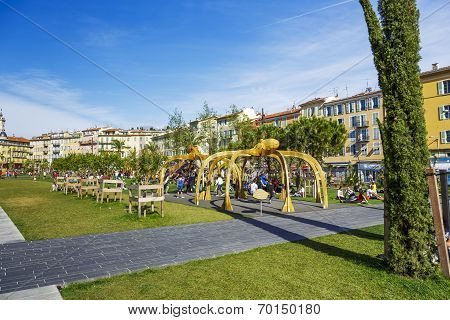 Playground At Promenade Du Paillon In Nice