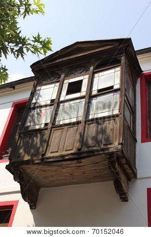 Old architectural wooden window