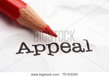 Pencil On Appeal Text