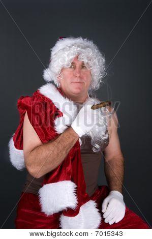 Daddy Santa Claus Smoking A Cigar