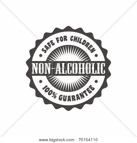 non alcoholic label sticker