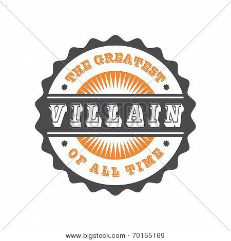 villain label sticker