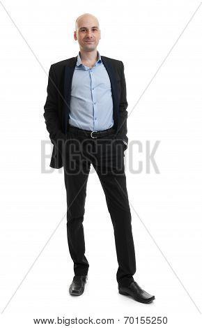Full Length Portrait Of A Businessman