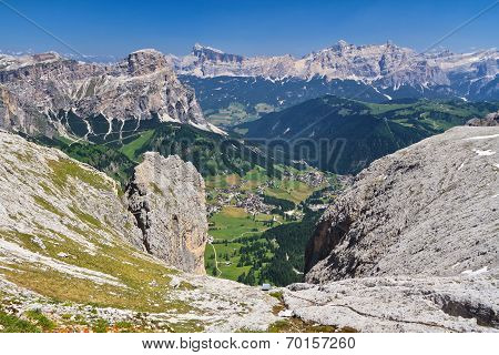 Dolomiti - Val Badia Aerial View