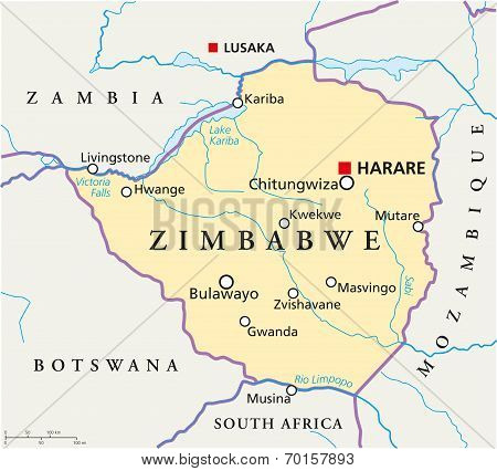 Zimbabwe Political Map