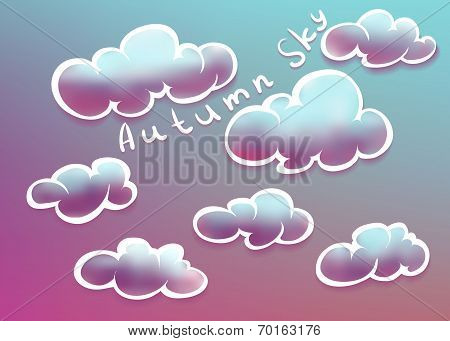Clouds on autumn sky