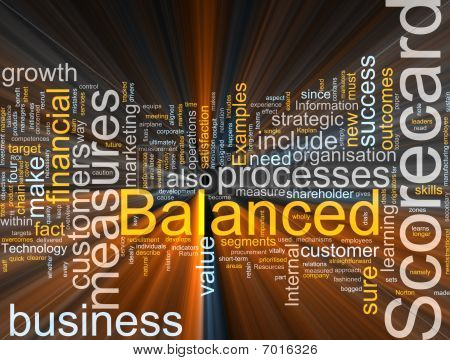 Balanced Scorecard Glowing