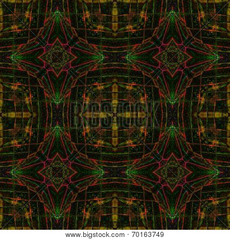 Linear And Dark Background Patterned By Orange Albatross Butterfly's Wing Skin