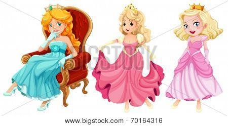 Illustration of princesses