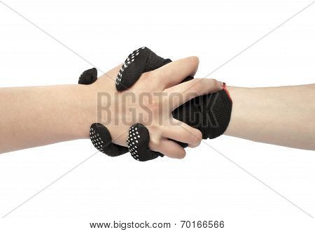 black work gloves isolated