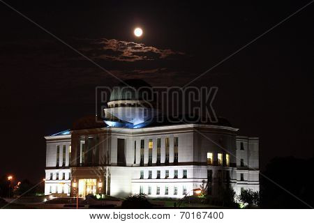 Moonrise over the Judicial Building