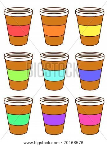 A set of coffee cups
