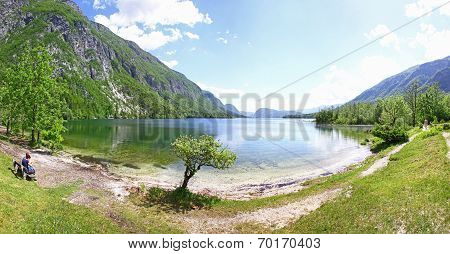 Panoramic View Of Lake Bohinj, Slovenia