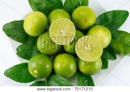 group lime lemon and lemon slice