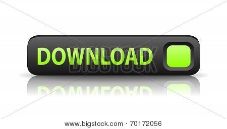 3D Gray Web Button Download