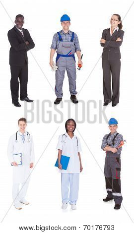 Multiethnic People With Diverse Occupations