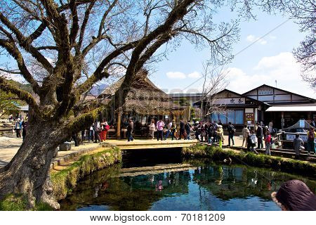 Oshino Village and Mount Fuji