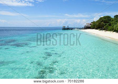 peaceful tropical island resort, vacation destination