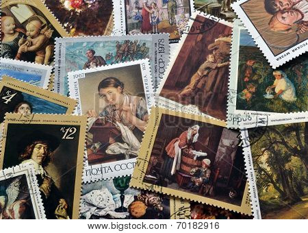 Art on stamps