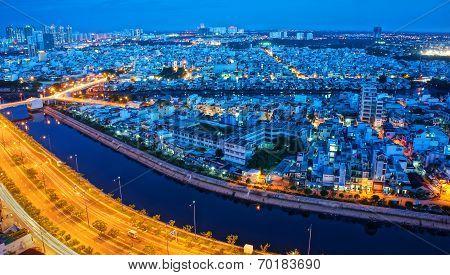 Impression Landscape Of Asia City
