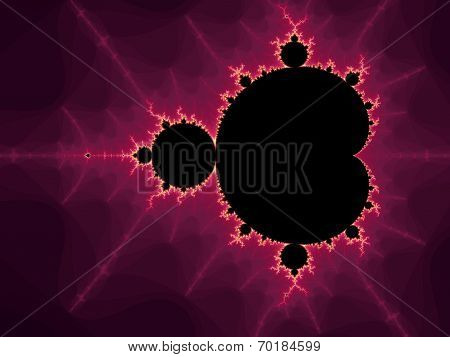 Decorative fractal spiral in a dark -  purple colors