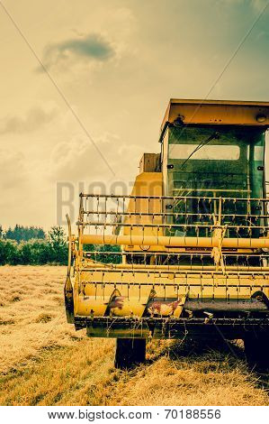 Close-up Photo Of A Harvester