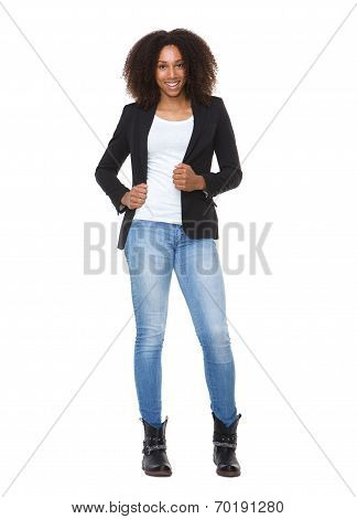 Casual Young African American Woman