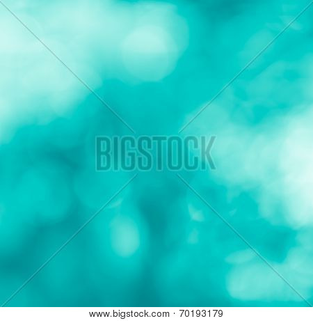 Turquiose Bokeh Abstract Background