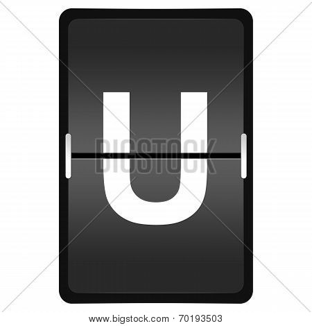 Flipboard Letter U From A Series Of Airport Timetable