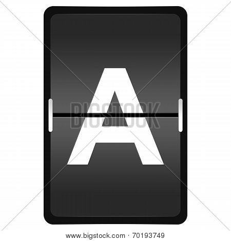 Flipboard Letter A From A Series Of Airport Timetable