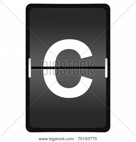 Flipboard Letter C From A Series Of Airport Timetable