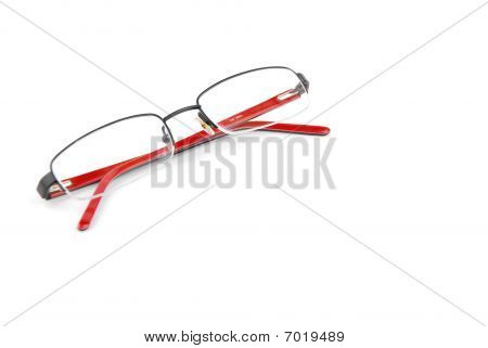 Red Spectacles On White