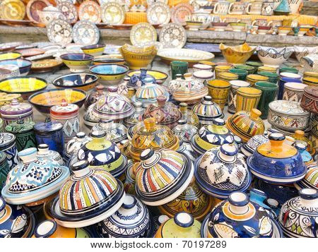 Tableware colored of Morocco.