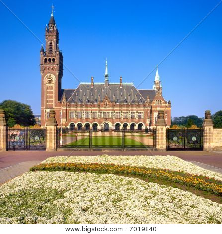 United Nations Peace Palace In The Hague, Holland