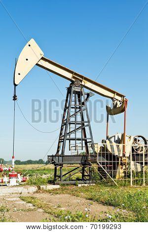View Of Pumpjack Pumping Oil