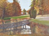 stock photo of ponds  - Oil Painting  - JPG