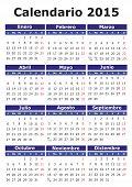 picture of thursday  - 2015 vector calendar in Spanish - JPG
