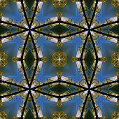 image of night-blooming  - Kaleidoscopic night city seamless texture or background - JPG