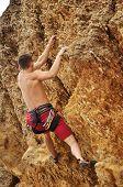 ������, ������: Climber Climbing On Rock