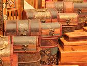 picture of hasp  - Handmade turkish boxes in a traditional turkish market