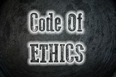 foto of ethics  - Code Of Ethics Concept text idea just honor good - JPG
