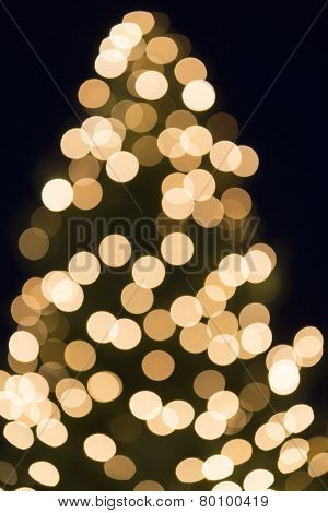 Christmas tree bokeh shot as background