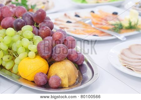 fruit platter on a Banquet table