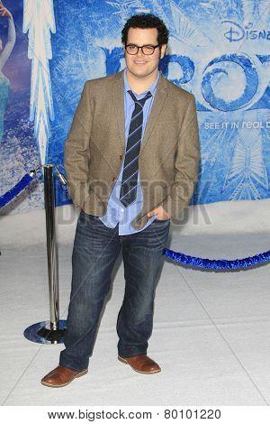 LOS ANGELES - NOV 19: Josh Gad at the premiere of Walt Disney Animation Studios' 'Frozen' at the El Capitan Theater on November 19, 2013 in Los Angeles, CA