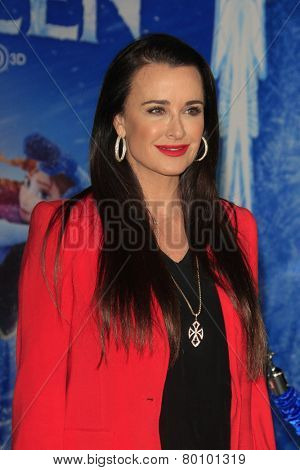 LOS ANGELES - NOV 19: Kyle Richards at the premiere of Walt Disney Animation Studios' 'Frozen' at the El Capitan Theater on November 19, 2013 in Los Angeles, CA