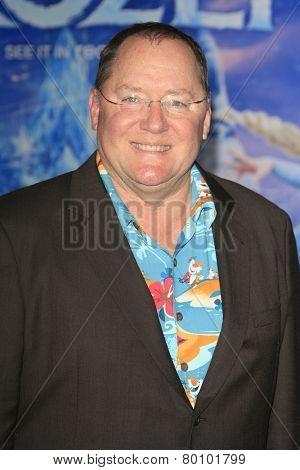 LOS ANGELES - NOV 19: John Lasseter at the premiere of Walt Disney Animation Studios' 'Frozen' at the El Capitan Theater on November 19, 2013 in Los Angeles, CA