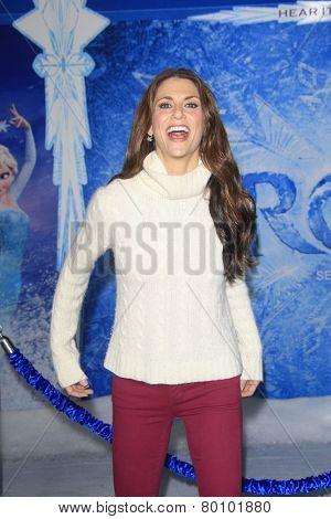 LOS ANGELES - NOV 19: Samantha Harris at the premiere of Walt Disney Animation Studios' 'Frozen' at the El Capitan Theater on November 19, 2013 in Los Angeles, CA